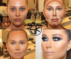 contour, contouring, and makeup image