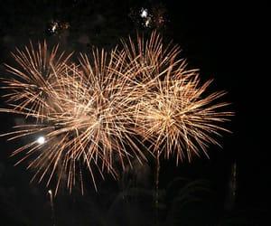 beautiful, dark, and fireworks image