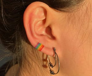 colourful, earrings, and girly image
