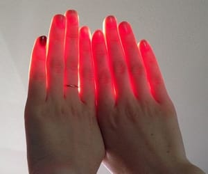 hands, red, and light image