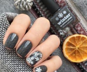 nails, christmas, and grey image
