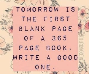 new year, quotes, and book image