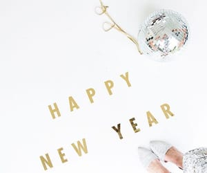 gold, new year, and silver image