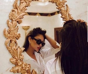 mirror, style, and gold image