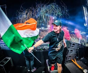 electronic music, festival, and india image