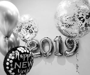 2019, new year, and balloons image