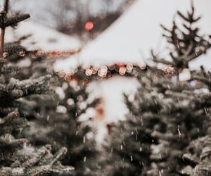 winter, lights, and snow image