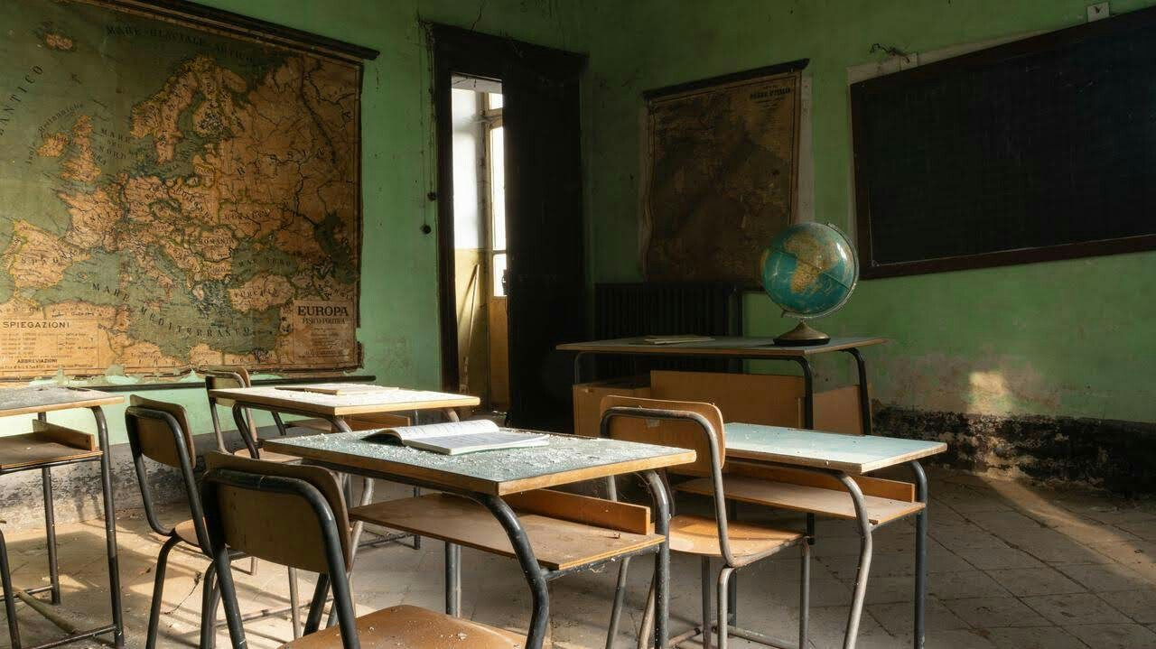 aesthetic, classroom, and vintage image