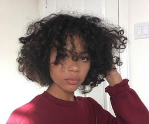 curly, hair, and red image