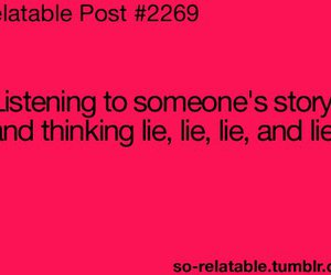 lie and story image