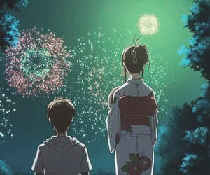 anime, fireworks, and 2019 image