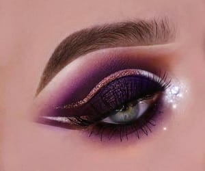 makeup and purple eyeshadow image