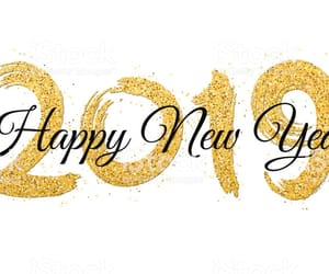 gold, happy new year, and we heart it image