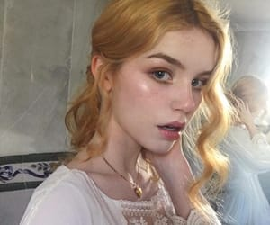 angelic, freckles, and model image