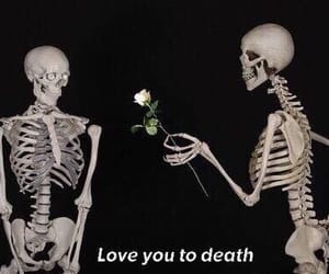 love, death, and easel image