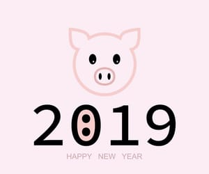 happy new year, new year, and pig image