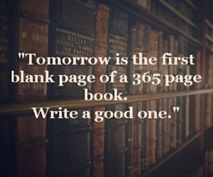 new year, book, and quotes image