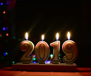 happy, lights, and new year image