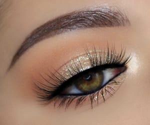 eyebrow, eyeshadow, and girl image