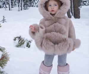 snow, fashion, and kids image