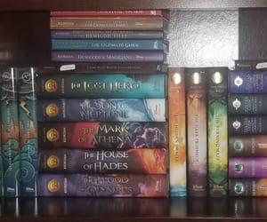 books, bookshelf, and mythology image