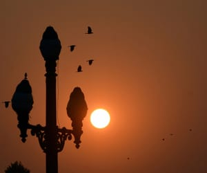 last sunset of 2018 and seen from kolkata. image