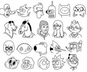 black, cartoon, and regular show image