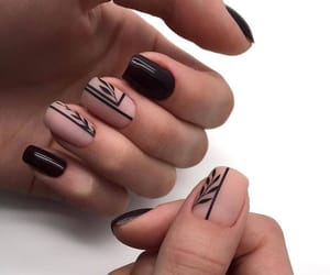 art, black, and manicure image