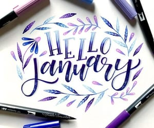 january and hello image