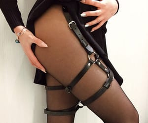 black, chokers, and sexy image