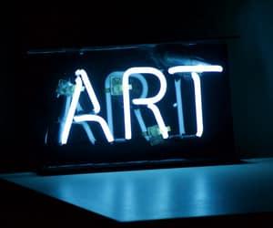art, blue, and light image