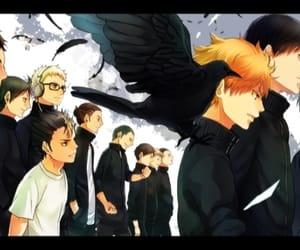 hinata, raven, and nishinoya image