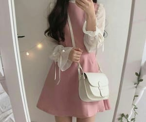 girl, pink, and fashion image