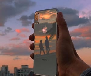 iphone and sunset image