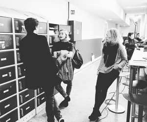 behind the scene, monochrome, and skam image