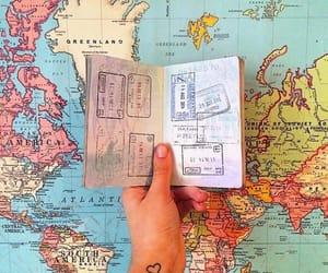 travel, map, and passport image