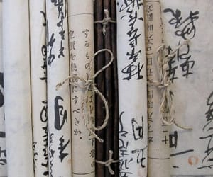 scrolls, japan, and japanese image