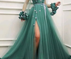 dress, green, and cute image
