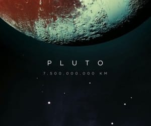 pluto, space, and universe image