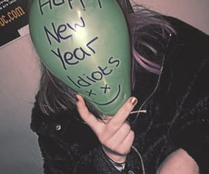 balloon, grunge, and new year image