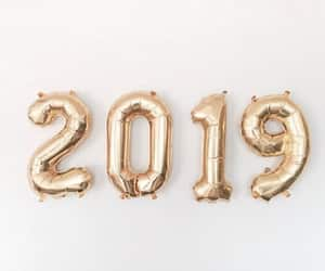 2019, new year, and gold image