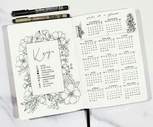 calendar, january, and key image