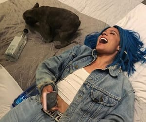 halsey, blue, and tumblr image