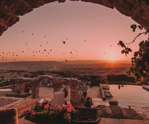 travel, sunset, and photography image