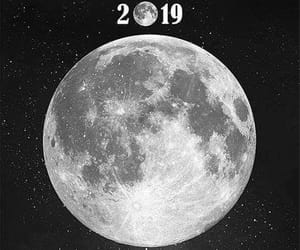 moon and 2019 image