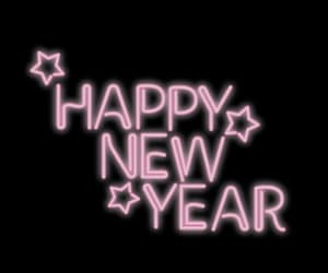 neon lights and happy new year image