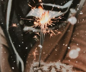winter, light, and fireworks image