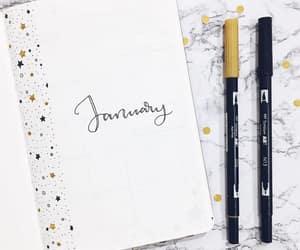 art, january, and writing image