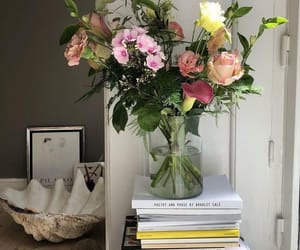 flowers, interior, and books image