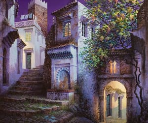 france, night, and paint image
